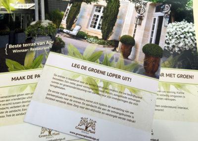 Groen & Plant Design promotiemateriaal