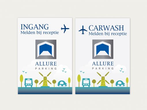 Allure Parking Promotional material