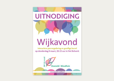 Wijkraad Osseveld Woudhuis promotional material